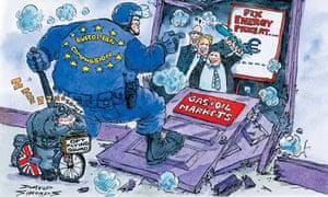 David Simonds cartoon on oil companies