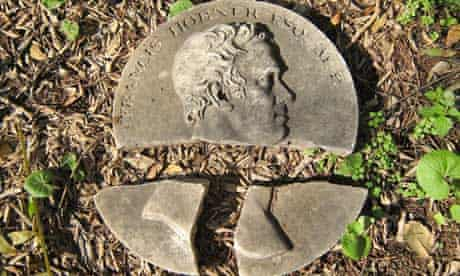 Sir Francis Chantrey's medallion portrait of Francis Horner at the Protestant cemetery in Livorno