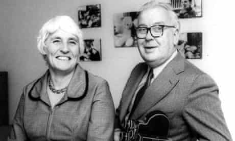 Joyce Robertson with her husband, James