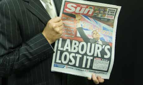 The Sun backed the Conservative party at the 2010 general election