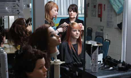 Hair and beauty students