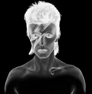 David Bowie by Duffy: Aladdin Sane Negative