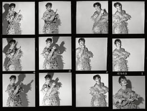 David Bowie by Duffy: Scary Monster contact sheet (Never Before Seen In Press)