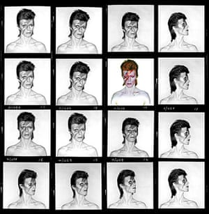 David Bowie by Duffy: Aladdin Sane contact sheet