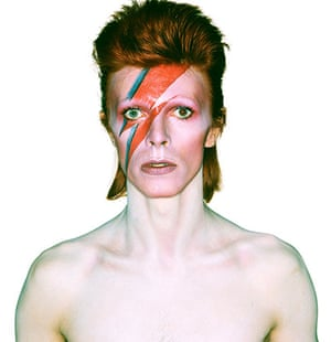 David Bowie by Duffy: Aladdin Sane eyes open