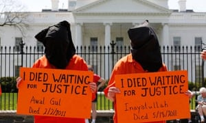 Guantánamo activists rally in front of the White House for President Obama close the prison