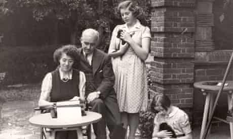 Enid Blyton and family