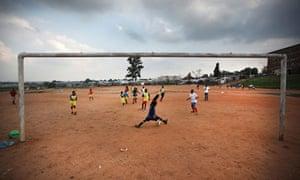 南非的足球训练