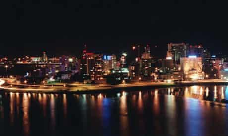 Abidjan at night