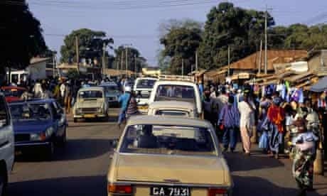 Gambia street scene