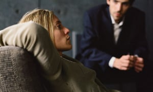 Young woman on a psychiatrist's couch