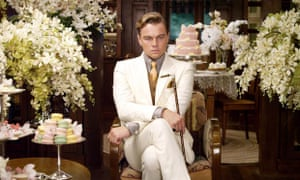 Leonardo Dicaprio as Jay in The Great Gatsby.