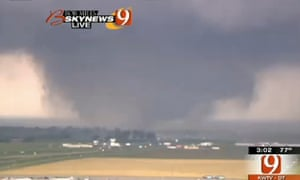 This frame grab provided by KWTV shows a tornado in Oklahoma City.