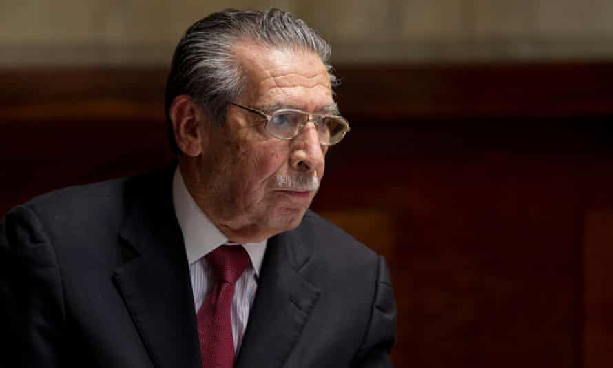 Guatemala's former dictator Jose Efrain Ríos Montt during his trial on genocide charges