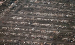 Aerial photo of Moore, Oklahoma after tornado