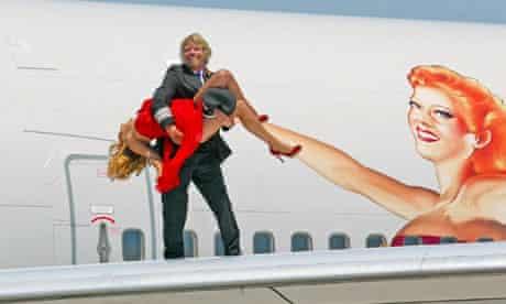Richard Branson Virgin 21st anniversary celebrations