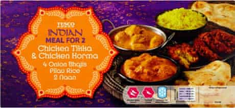 Tesco Indian Meal For 2