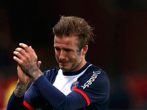 Sports Pic of the Day: Beckham in tears