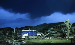 Damage from tornado in Moore, Oklahoma