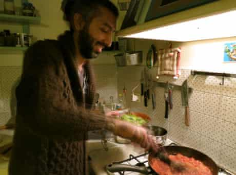 Peyman cooking Lari kebab Peyman Majidzadeh