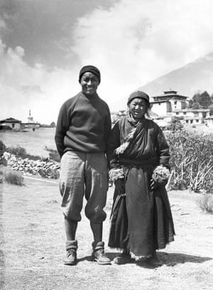 Everest: Tenzing Norgay with his mother at Thyangboche Monastery