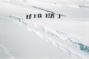 everest: Everest expedition sherpas make their way across the Western Cwm