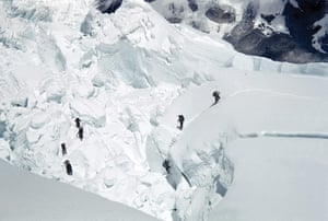 everest: Everest expedition team members in the Icefall