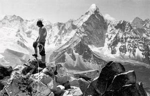 everest: Tenzing Norgay on the summit of Chukhung Peak