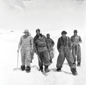 1953 Everest team members return to Camp IV