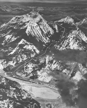 Route of 1953 successful ascent of Mount Everest