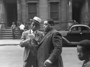 Jazz musicians Willie (The Lion) Smith and Fats Waller  look at the mail in their hometown of Harlem