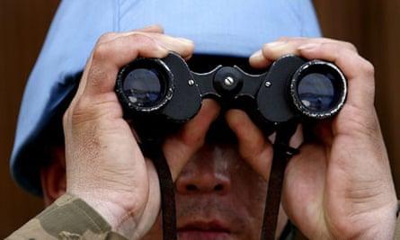 Binoculars UN soldier