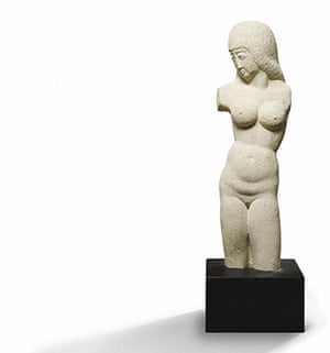 First Time Out : Eric Gill, Torso – Woman, Bath Stone, 1931