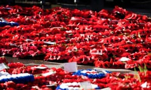 Poppy wreaths at the Cenotaph