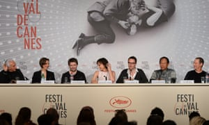 Producer Lene Borglum, actor Matthew Newman, actress Kristin Scott Thomas, director Nicolas Winding Refn, Vithaya Pansringarm and musician Cliff Martinez at the  Only God Forgives press conference