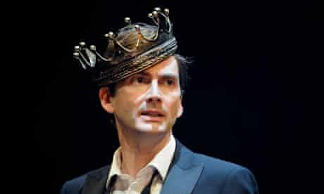 Crowned at last: David Tennant in Hamlet, 2008. Crowned at last: David Tennant in Hamlet, 2008.