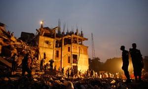 The Rana Plaza building in Savar outside Dhaka
