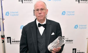 Steven Wilhite, inventor of the Gif, with his Webby