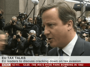 David Cameron arriving at the EU summit in Brussels