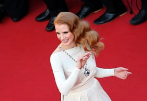 24 hours in pictures: Jessica Chastain at Cannes