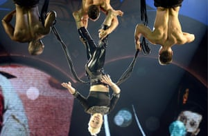 24 hours in pictures:  Pink  performs on stage during her 'The Truth About Love' Tour