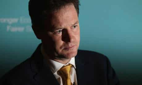 Nick Clegg at Admiralty House