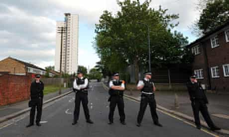 Police in Woolwich after attack 22 may 2013
