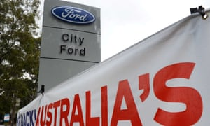 A Ford dealership in Sydney. The company will stop making cars in Australia at the cost of 1,200 direct jobs