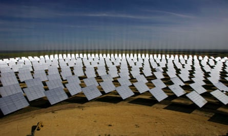 A solar thermal project in Spain. Critics of Coalition policy fear for the future of renewable energy projects in Australia