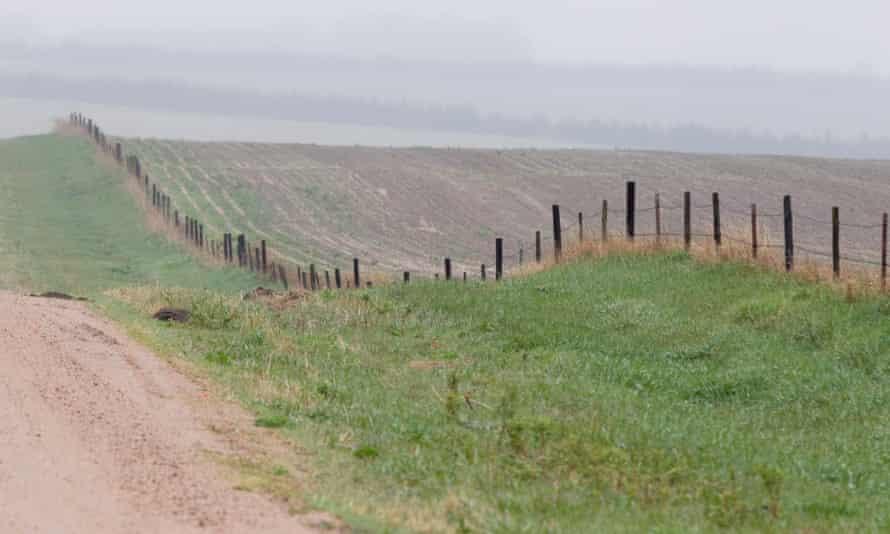 Part of the route for the Keystone pipeline in Nebraska