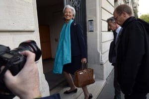 Head of the International Monetary Fund (IMF), France's Christine Lagarde, smiles as she arrives at the French Republic Justice Court, on May 23, 2013 in Paris, for a hearing to determine whether Lagarde should be charged over the Tapie case for  complicity in fraud and misappropriation of public funds when she was French finance minister in 2007-2008. AFP PHOTO / LIONEL BONAVENTURE LIONEL BONAVENTURE/AFP/Getty Images