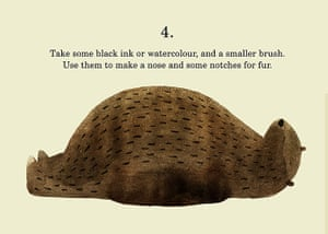 How to draw a bear: Step 4