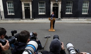 As PM David Cameron gives a statement outside No. 10 Downing Street following the special Cobra committee meeting about the Woolwich attack..