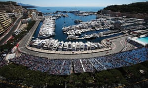 It's late May so after Cannes it'll be the Monaco Grand Prix: Fernando Alonso of Spain and Ferrari drives during the first practice session for this weekend's race.